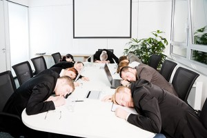 sleeping conference table