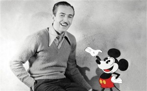 walt disney and mickey mouse photo